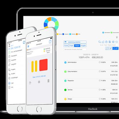 Zeiterfassung für Selbstständige - Web und Mobile App