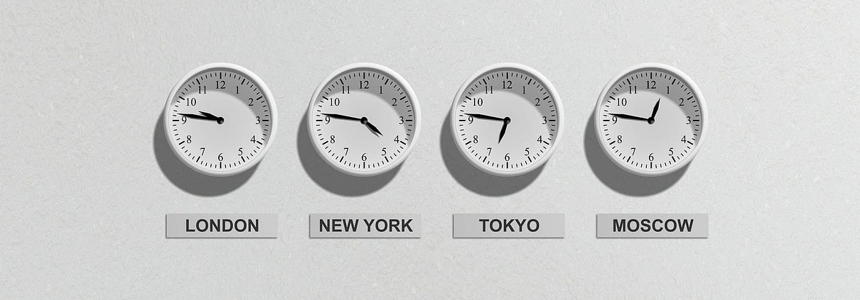 clocks with international time