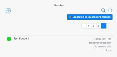 TimeTrack Kunden mit lexoffice synchronisieren