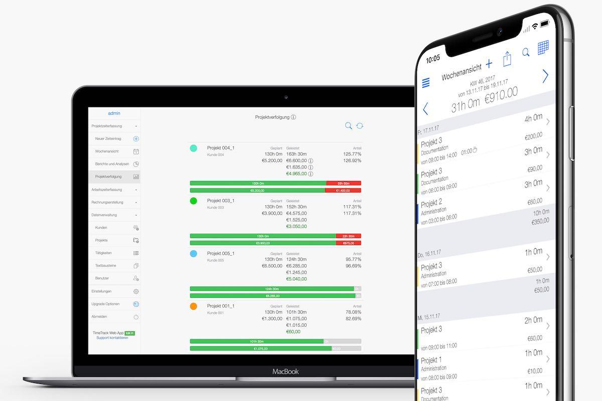 Zeiterfassung für Mac und iPhone - Projektzeiterfassung