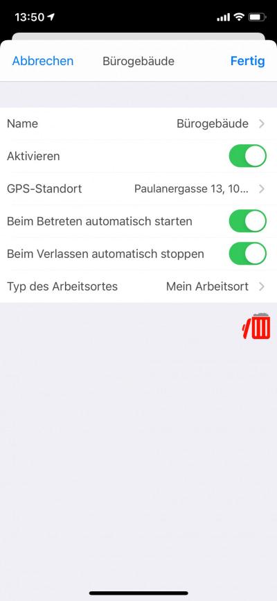 Mobile Anwesenheitserfassung GPS Arbeitsort