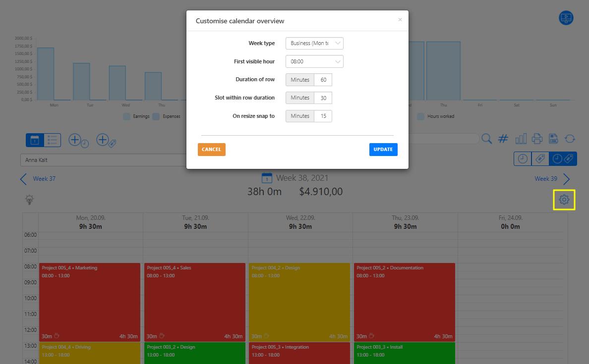Overview Customization of calendar
