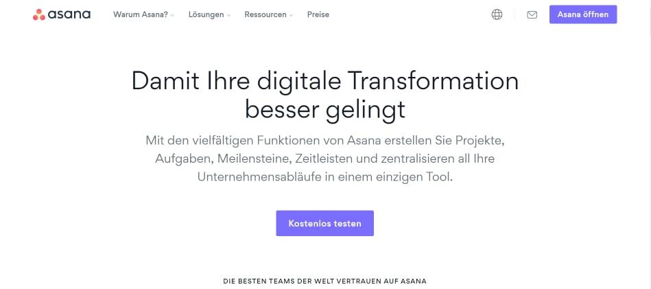 asana-webseite