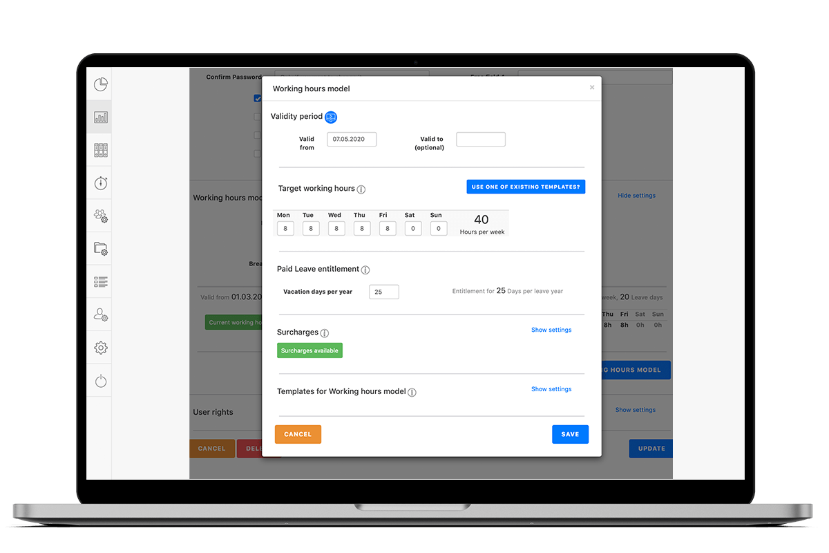 Attendance Tracking Working Hours Model