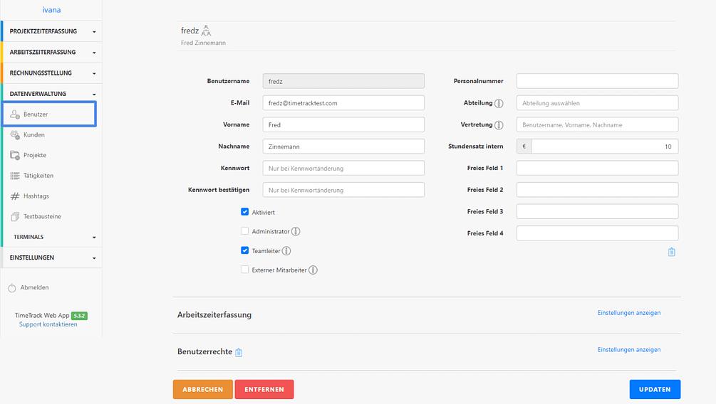 TimeTrack-Benutzer-anlegen