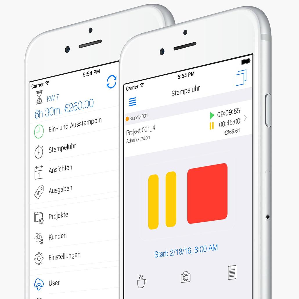 Projektzeiterfassung - Stempeluhr Mobile App