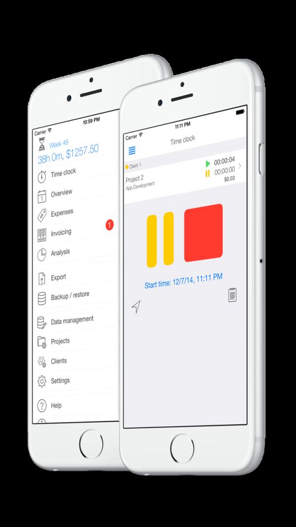 Zeiterfassung App - Mobil