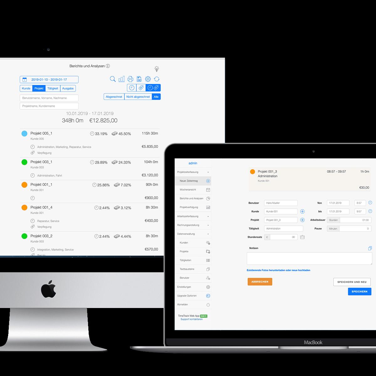 Zeiterfassung für Mac und iPhone